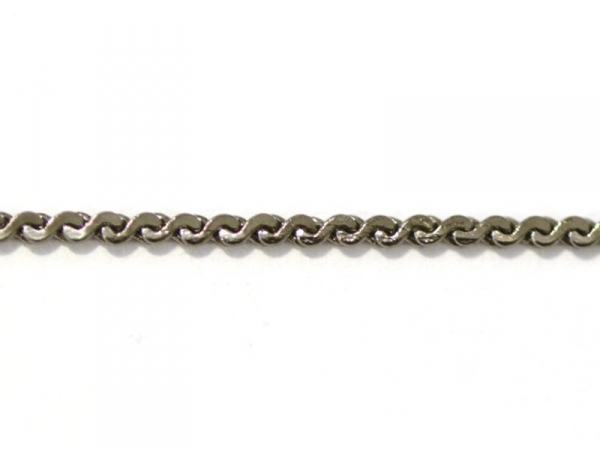 Dark-silver coloured s-shaped link chain (1 m)