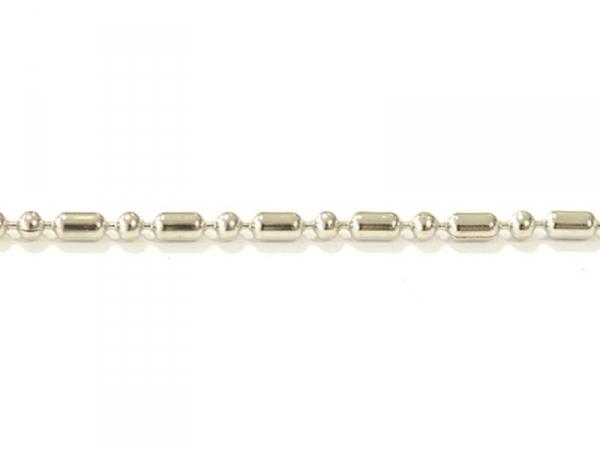 Silver-coloured ball chain (1 m)