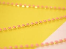 1 m pink quartz effect chain - 3 mm
