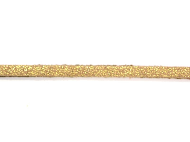 1m cordon simili cuir - doré