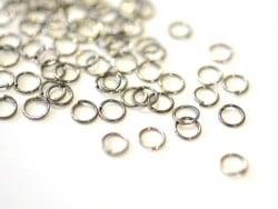 100 anneaux argenté foncé - 6 mm
