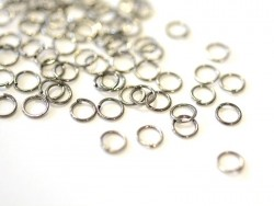 100 dark silver-coloured jump rings - 6 mm