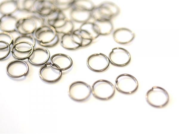 100 anneaux argenté foncé - 7 mm