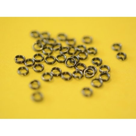 Acheter 100 anneaux doubles argenté foncé - 4 mm - 0,59€ en ligne sur La Petite Epicerie - 100% Loisirs créatifs
