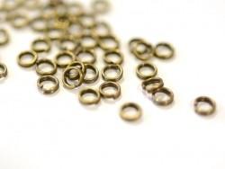 100 anneaux doubles bronze - 4 mm