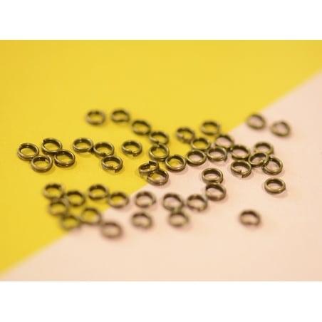 100 anneaux doubles bronze - 4 mm  - 2
