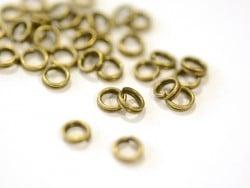 100 anneaux doubles bronze - 5 mm  - 1