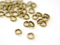 100 bronze-coloured double jump rings - 5 mm