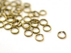 100 anneaux doubles bronze - 6 mm
