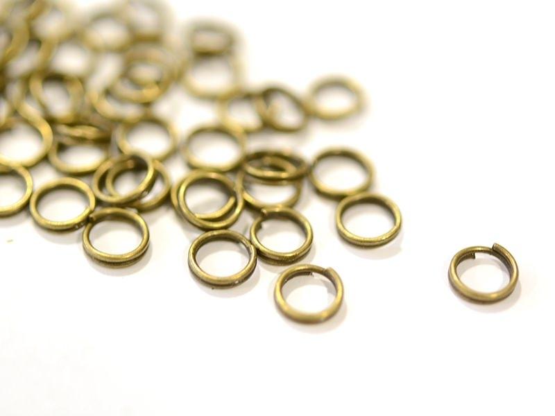 100 anneaux doubles bronze - 6 mm  - 1