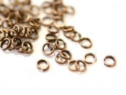 100 anneaux doubles cuivre - 4 mm