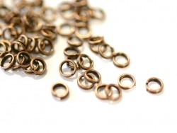 100 copper-coloured double jump rings - 4 mm