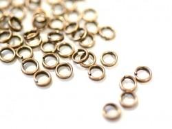 100 anneaux doubles cuivre - 5 mm  - 1