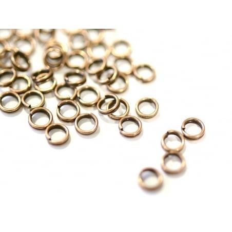 100 anneaux doubles cuivre - 5 mm