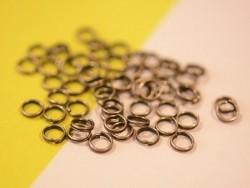 100 anneaux doubles cuivre - 6 mm