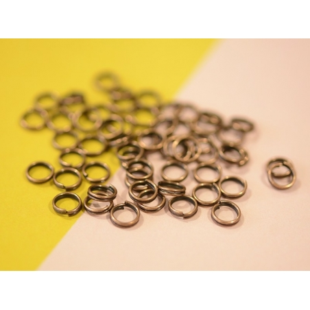 100 copper-coloured double jump rings - 6 mm
