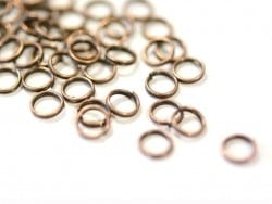 100 copper-coloured double jump rings - 7 mm
