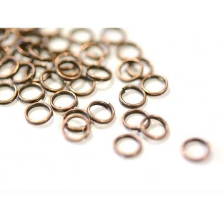 100 anneaux doubles cuivre - 7 mm