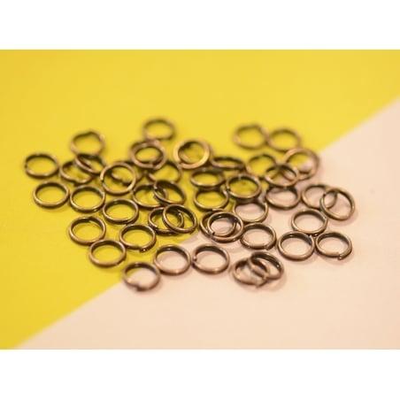 100 anneaux doubles cuivre - 7 mm  - 2