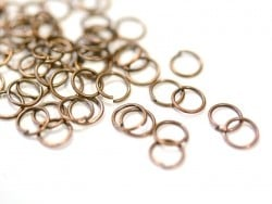 100 copper-coloured jump rings - 7 mm