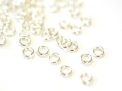 100 anneaux argenté clair - 5 mm  - 1