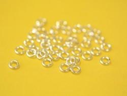 100 anneaux argenté clair - 5 mm