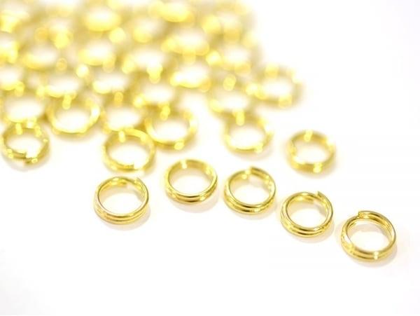 Acheter 100 anneaux double couleur doré - 6 mm - 0,89€ en ligne sur La Petite Epicerie - 100% Loisirs créatifs
