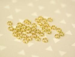 100 anneaux double couleur doré - 4 mm