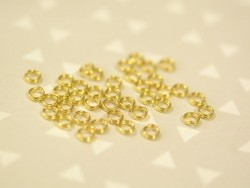 100 gold-coloured double jump rings - 4 mm