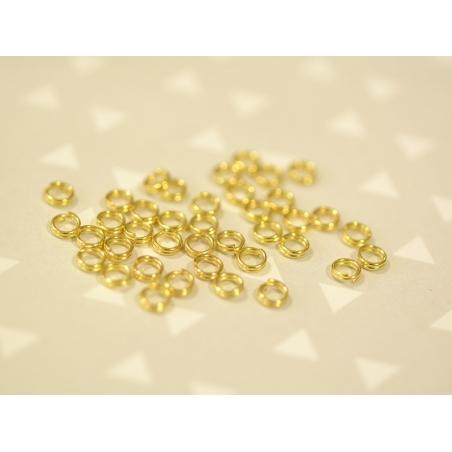 100 anneaux double couleur doré - 4 mm  - 2