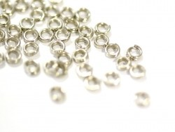 100 silver-coloured double jump rings - 4 mm