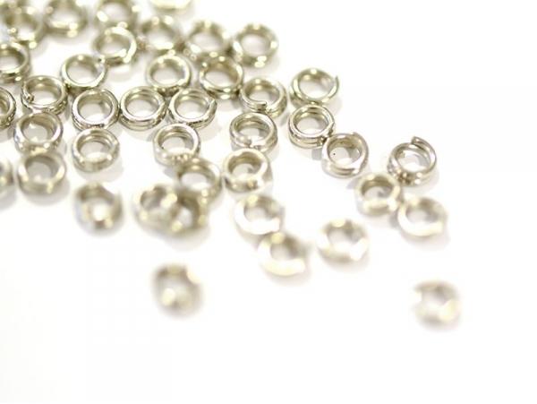 100 anneaux doubles couleur argenté - 4 mm  - 1