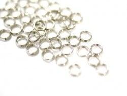 100 anneaux doubles couleur argenté - 5 mm