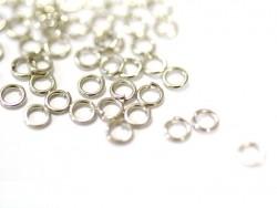 100 anneaux couleur argenté - 4 mm  - 1