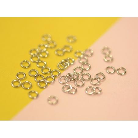 100 anneaux couleur argenté - 4 mm  - 2