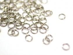 100 anneaux couleur argenté - 5 mm  - 1