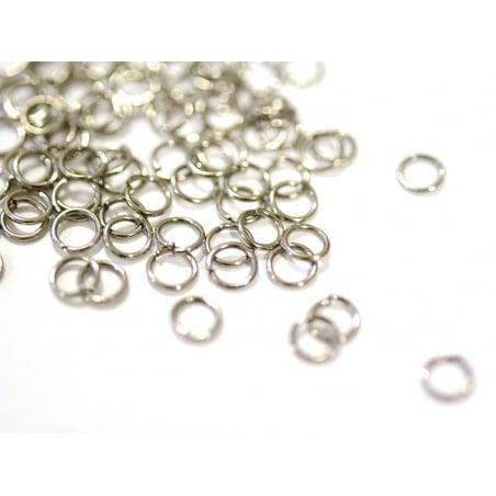 Acheter 100 anneaux couleur argenté - 5 mm - 0,29€ en ligne sur La Petite Epicerie - Loisirs créatifs