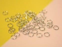 100 anneaux couleur argenté - 6 mm