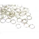 100 anneaux couleur argenté - 7 mm