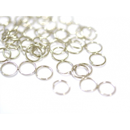 100 anneaux couleur argenté - 7 mm  - 1