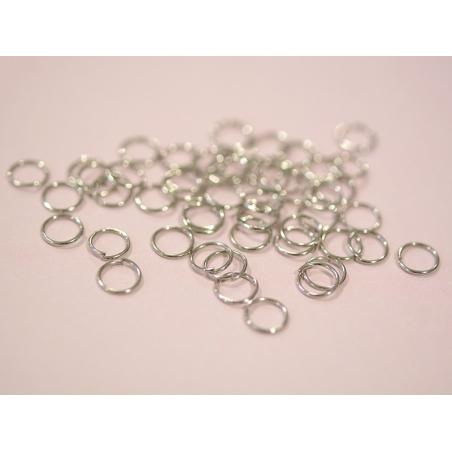 100 anneaux couleur argenté - 7 mm  - 2