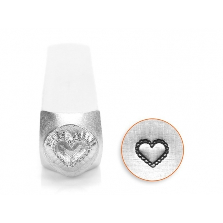 Metal stamp - lace heart