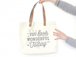 Tote bag / sac en coton - You look wonderful today Mr Wonderful  - 1