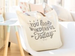 Tote bag / sac en coton - You look wonderful today
