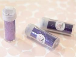3 tubes de paillettes - violet