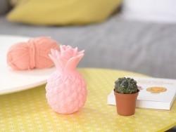 Veilleuse ananas - mini lampe rose