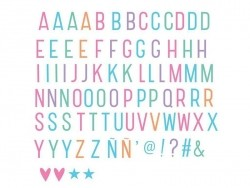 Lightbox accessories - pastel-coloured alphabet