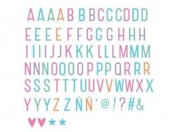 Lightboxzubehör - pastellfarbene Buchstaben