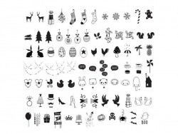 Accessoires lightbox - illustrations célébrations