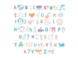 Accessoires lightbox - alphabet illustré pastel A little lovely Company - 1